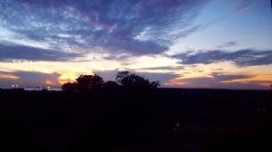 langit pagi hari di kota Bontang